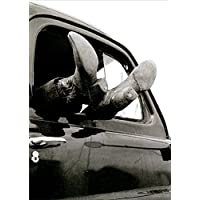 Cowboy Boots Hanging Out Car Window America Collection Funny Birthday Card for Him / Man