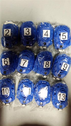 12 Speedo Competition Water Polo Gear Extender Cap #2 To #13 Set Royal Blue With White Print