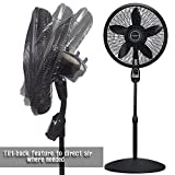 Rustic Pedestal fan With Remote Control Programmable Timer Three Quiet Speed Tilt Back Feature For Directional Widespread Air Flow Living Rooms Bedroom Office Dorms Electric Fans Adjustable Height