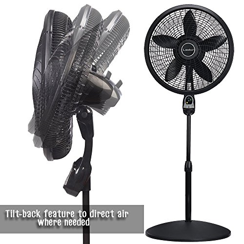 Rustic Pedestal fan With Remote Control Programmable Timer Three Quiet Speed Tilt Back Feature For Directional Widespread Air Flow Living Rooms Bedroom Office Dorms Electric Fans Adjustable Height by Indipartex