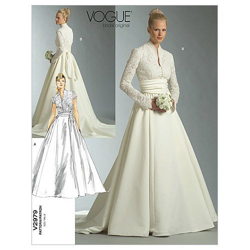 Vogue Patterns V2979 Misses'/Misses' Petite Dress and Sash, Size A (6-8-10)