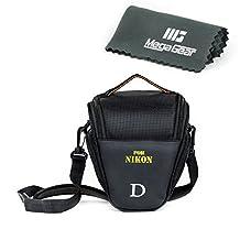 MegaGear ''Ultra Light'' Camera Case Bag for Nikon D3400, D5600, D7200, D7100 with 18-105 lens, D610 with 24-85 lens, D500 55-200mm Lens