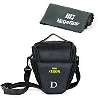 MegaGear Ultra Light Camera Case Bag for Nikon D3400, D5600, D7200, D7100 with 18-105 lens, D610 with 24-85 lens, D500 55-200mm Lens