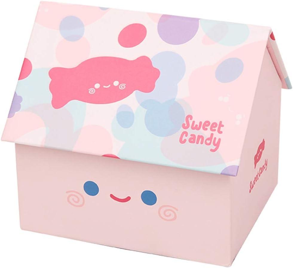 WXiaJ-Gift box Caja de Regalo Creativa para niños, diseño de casa pequeña, multifunción, Color Rosa: Amazon.es: Hogar