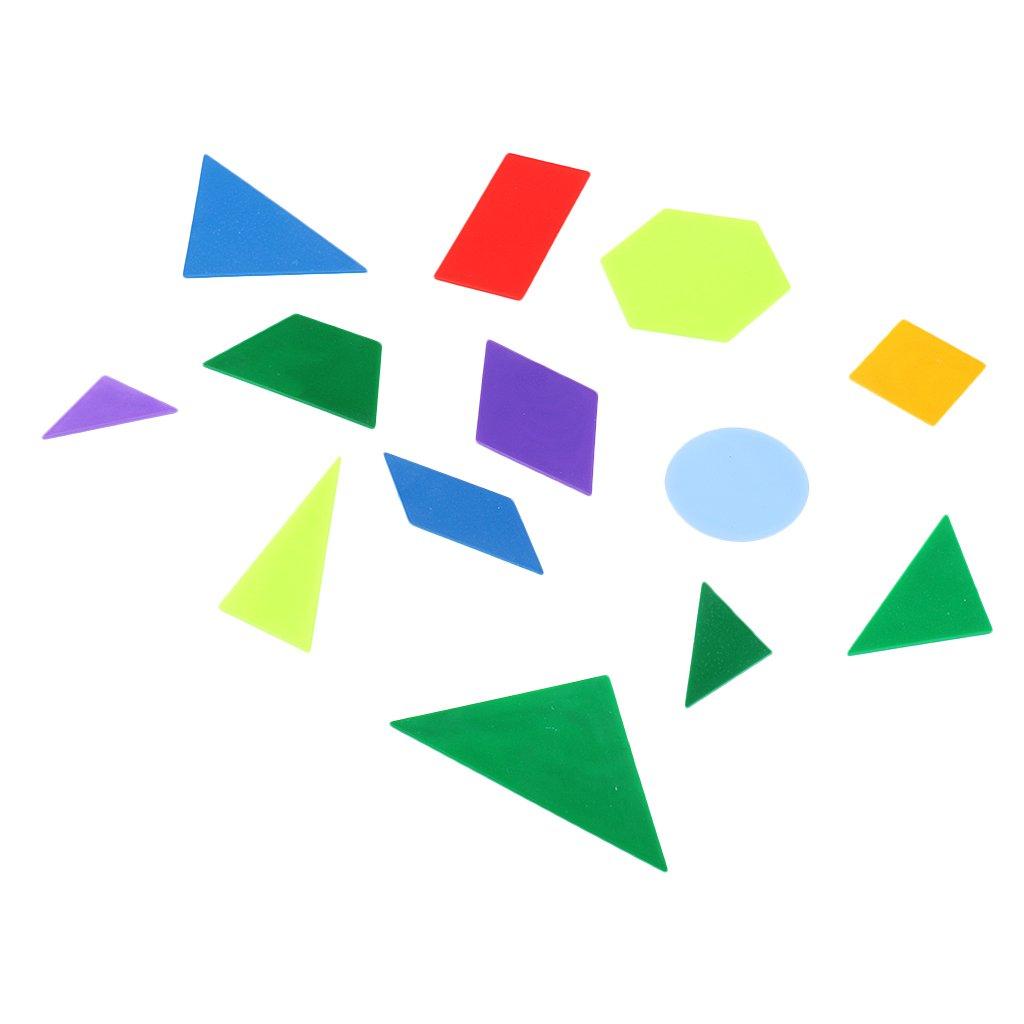 MagiDeal Mathematik Learnen Material - Diy Geometrische Puzzlespiele, 13pcs Geometrie Fläche 13pcs Geometrie Fläche