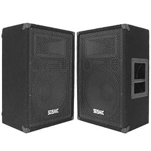 """Seismic Audio - FL-12MP (Pair) - Pro Audio PA/DJ 12"""" Monitors - 100% Birch Plywood  - 600 Watts"""
