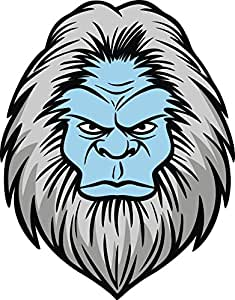 Clipart of a Cartoon Yeti Abominable Snowman Wearing a ...
