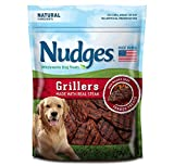 Made in the USA with real beef, including Steak, as the #1 ingredient, These treats satisfy your dog's cravings for summer grilling all year long. These tender treats are inspired by the delicious taste, texture and aroma of perfectly grilled foods. ...