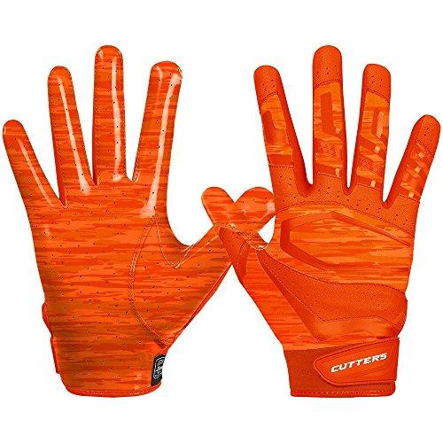 Cutters Gloves Rev Pro 3.0 Receiver Phantom Gloves, Orange Camo, Large