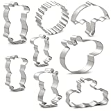 umbrella cookie cutter - Peppa Pig Cookie Cutters Set for Kids - 8 PCS - Peppa Pig, George Pig, Daddy Pig, Mummy Pig, Pig Head, Sun, Umbrella and Message Board - Stainless Steel