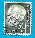 Used German Postage Stamp %281954%29 50p