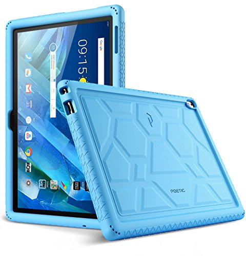Lenovo Moto Tab Case, Poetic TurtleSkin Series [Corner/Bumper Protection][Grip][[Bottom Air Vents] Protective Silicone Case for Lenovo Moto Tab (X704A)/Lenovo Tab 4 10 Plus Tablet - Blue