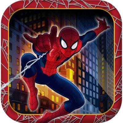 Marvel Ultimate Spider-man Hero Dream Birthday Party Dessert Plates -