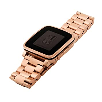 Boofab Pebble Time Watch Band, Quick Release Premium Solid ...