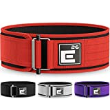 Element 26 Self-Locking Weight Lifting Belt | Premium Weightlifting Belt for Serious Crossfit, Power Lifting, and Olympic Lifting Athletes (Large, Red)