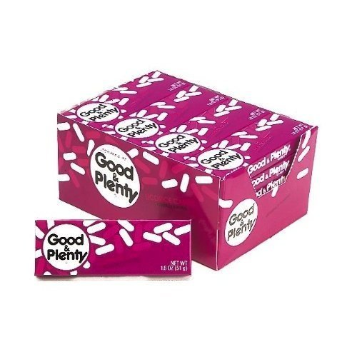 Good & Plenty, 1.8-Ounce Boxes (Pack of 24)
