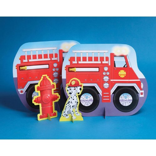 Factory Card and Party Outlet Firefighter 13 1/2in Centerpiece 3ct