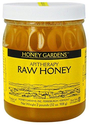 Honey Gardens Raw Honey, 2-Pound Glass Bottle