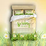 Beauty Decor Bedding 4 Piece bed Set Duvet Cover,spring 4 Piece Bed Sheet Set 1 Flat Sheet 1 Fitted Sheet and 4 Pillow Cases