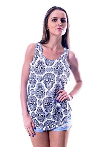 S-Ponder - Camiseta sin mangas - Sin mangas - para mujer blanco