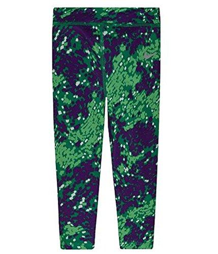 Girl's Nike Dri-FIT Skinny Printed Leggings (4, VOLT GREEN)