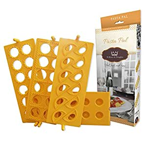Versatile Ravioli Maker Set for Delicious Homemade Pasta, Pierogi, Wontons, Pelmeni, Mandoo, Shish Barak, Kreplach & Other Dumplings | 12-Pocket Tray, 3 Molds & Bonus Recipe Ebook Included