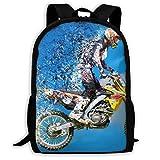 Motocross School Backpack Knapsack Cute Daypack Children Sports Backpacks For Women Men