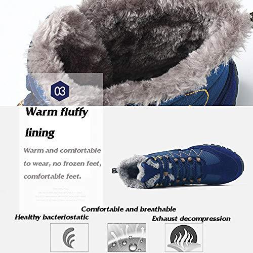 Haute Plus Air Hommes Antidérapantes Épais Aide Miss Pour En Bottes Plein Chaussures Randonnée Blue Neige Velours De Hiver Li XqwZ0Zxv7