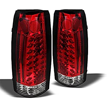 Amazon Com For 88 98 Chevy Suburban Tahoe Led Red Tail