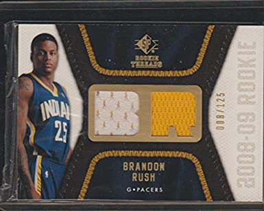 29bb7bd3320 2008 SP Brandon Rush Pacers 8/125 Rookie Jersey Basketball Card #RT ...