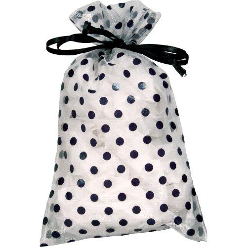 48 pcs Organza Sheer Polka Dot Drawstring Pouches Gift Bags 4 x 5 inch