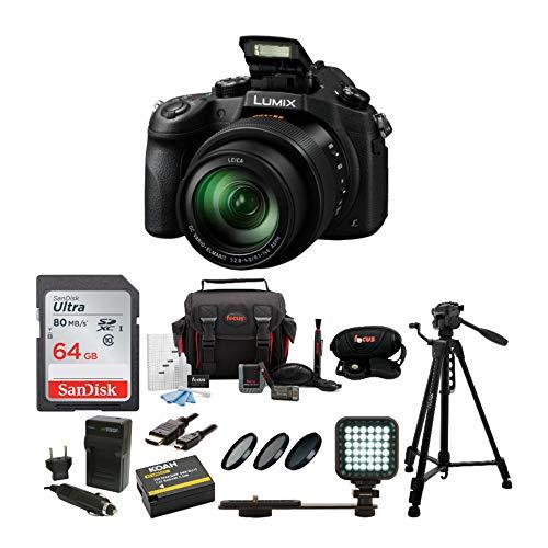 Panasonic LUMIX DMC-FZ1000 Digital Camera with Tripod and 64 GB SD Card Bundle