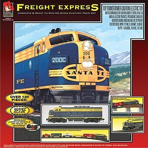 (Walthers Life Like HO Scale Freight Express Diesel Freight Train Set )