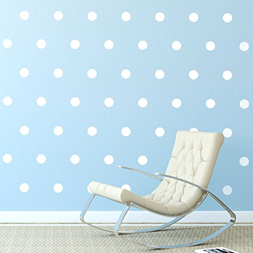 White Polka Dots Wall Decals  Removable Peel And Stick Matte