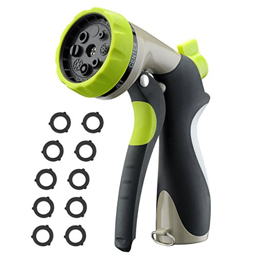 VicTsing [New Version] Garden Hose Nozzle Spray Nozzle Hand Sprayer with 8 Patterns Watering Nozzle&High Pressure...