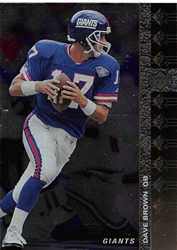 - 1994 SP Football #124 Dave Brown New York Giants Official NFL Trading Card From Upper Deck