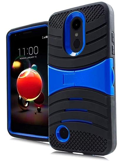 super popular 98be7 d7388 U-Case Hybrid Cover for LG Rebel 4 LML212VL / LML211BL (Black & Blue)