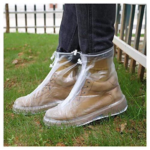 Rain Boot Waterproof Shoes Cover Women Men Kids Reusable PVC Rubber Sole Overshoes Galoshes M