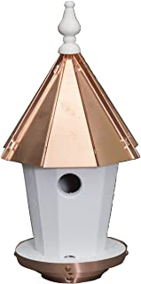 "product image for Saving Shepherd 19"" Bluebird House - Round Copper Top Birdhouse Amish Handcrafted in Lancaster Pennsylvania USA"