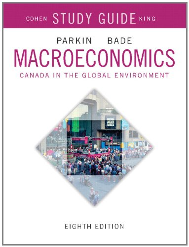 Study Guide for Macroeconomics: Canada in the Global Environment
