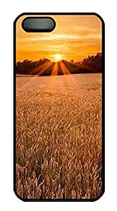 iPhone 5 5S Case Landscapes sunset 1 PC Custom iPhone 5 5S Case Cover Black