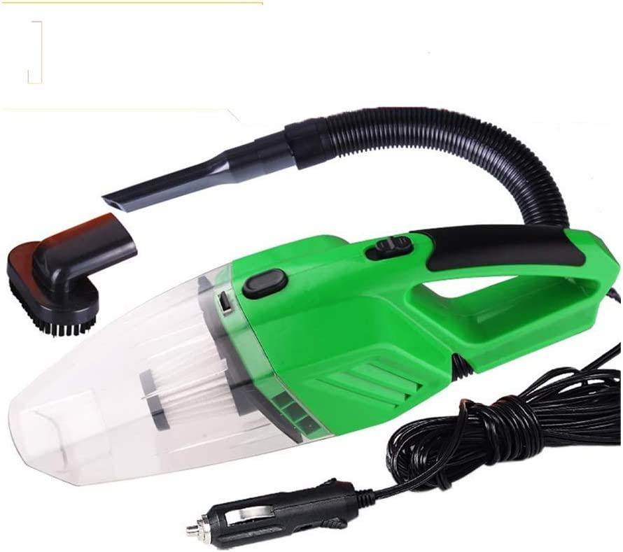 Aspirateur 3000Pa poche Aspirateurs 120W portable for Auto Intérieur voiture Nettoyage domestique sec et humide Aspirateur de Voiture Produit pour Domicile (Color : Green) Green