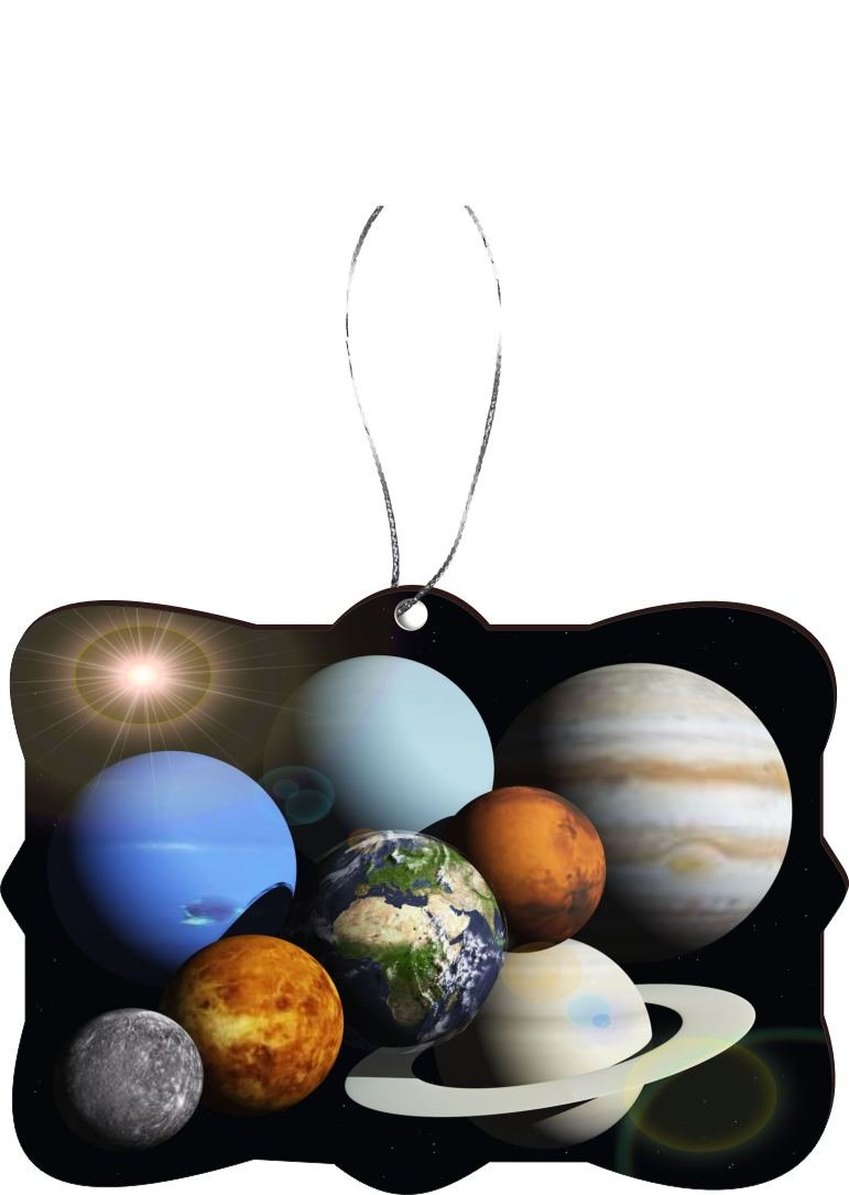 Rikki Knight RKWS-SQORN-50 Christmas Tree Ornament / Car Rear View Mirror Hanger Solar System Planets Design