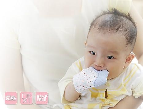 ShineGown - Guantes de dentición para bebé, alivio del dolor ...