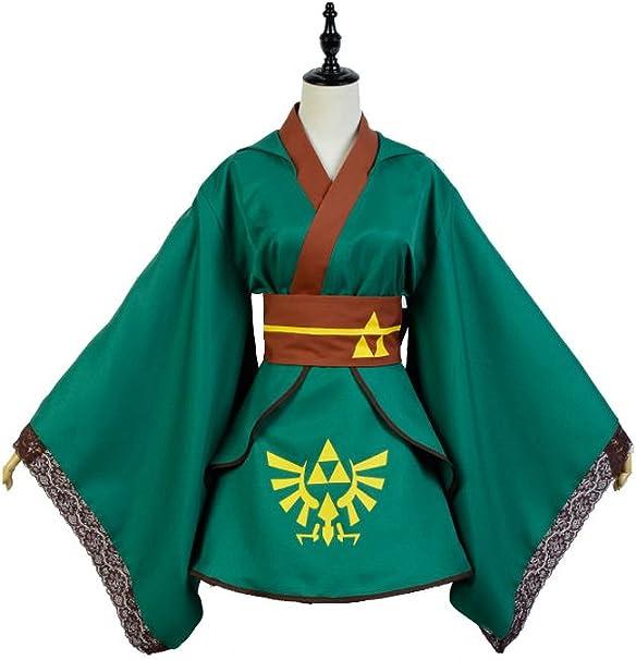 kucos Link Disfraz The Legend of Zelda Cosplay para mujer verde xx ...