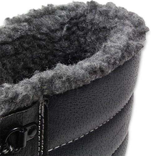 Winter Schnürstiefel Sicherheitsschuhe S3 mit Webpelzfutter aus Rindleder Gr. 38-48 Größe 47