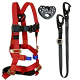 Fusion Climb Tactical Edition Kids Commercial Zip Line Kit Harness/Lanyard/Trolley Bundle FTK-K-HLT-04
