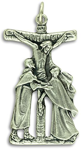 "LOT of 2 - Stations of the Cross Pieta Crucifix 1 5/8"" Pendant or Rosary Crucifix Catholic Made in Italy"