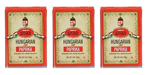 - Szeged Paprika 4 Ounce (Pack of 3)