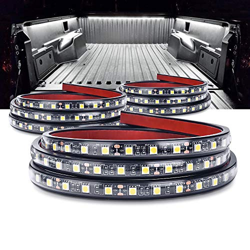 - MICTUNING 3Pcs 60 Inch Truck Bed Lights - White Waterproof LED Light Strip with On-off Switch Fuse Splitter Cable for Truck Jeep Pickup RV SUV Vans Cargo Boats and More